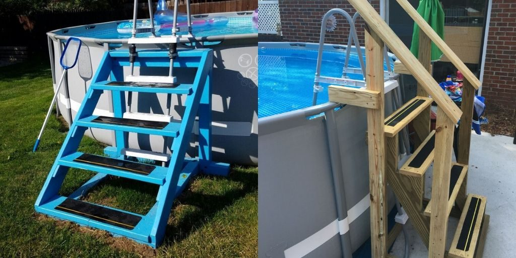 DIY Walk-in Steps for Above Ground Pool